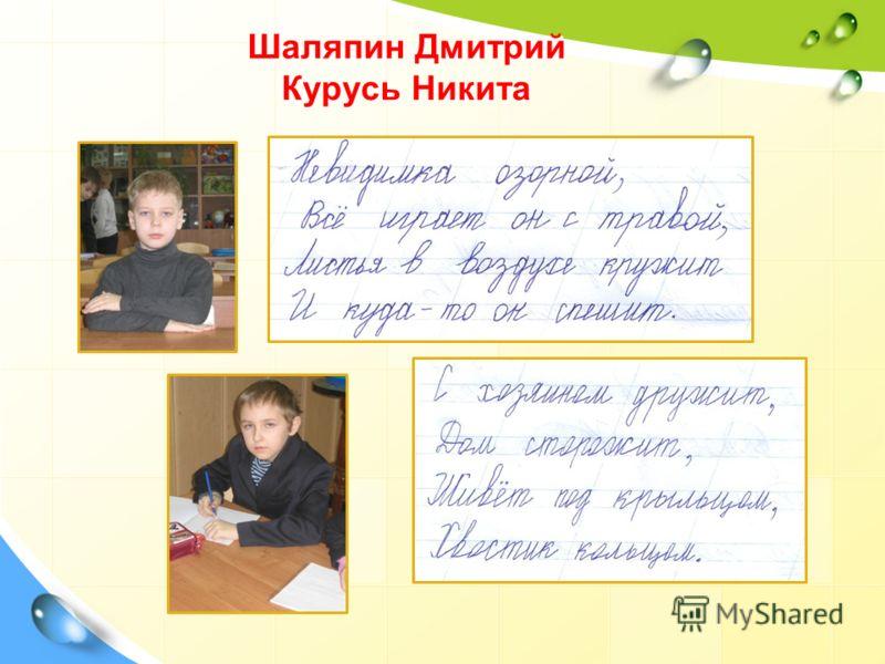 Шаляпин Дмитрий Курусь Никита