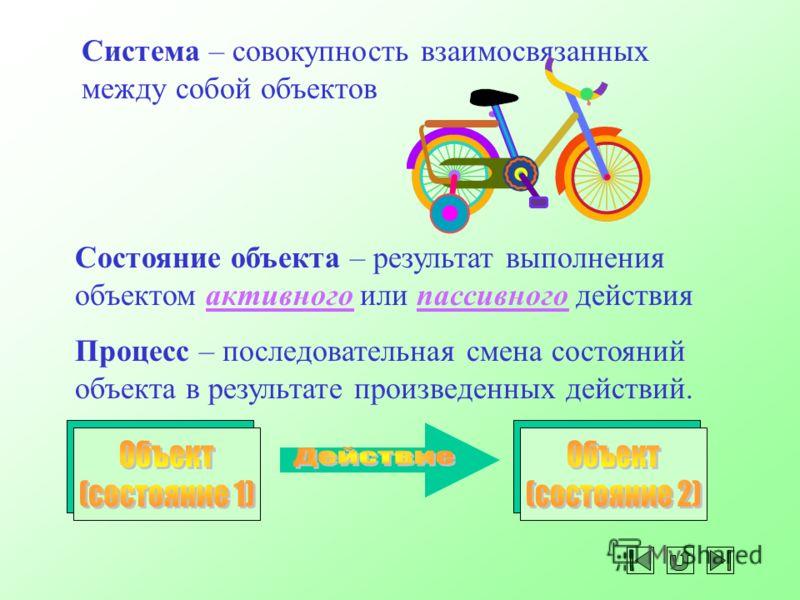 ОбъектИмя объекта Активное действие Пассивное действие Действие – проявление деятельности объекта.