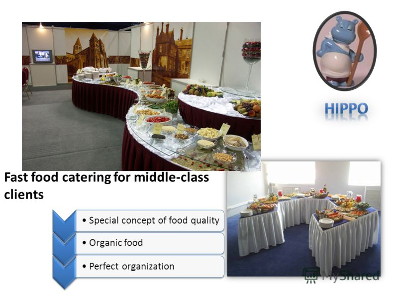 Fast food catering for middle-class clients Special concept of food qualityOrganic foodPerfect organization