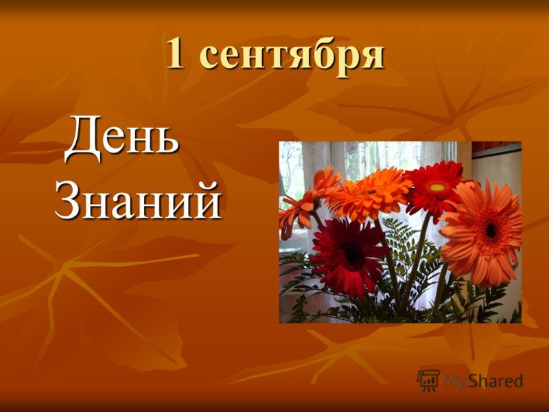 1 сентября День Знаний День Знаний