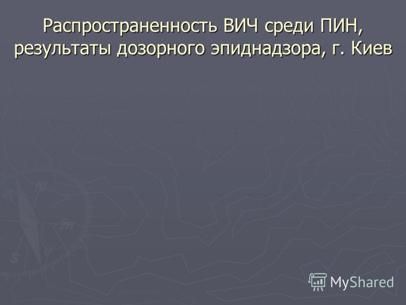 Распространенность ВИЧ среди ПИН, результаты дозорного эпиднадзора, г. Киев