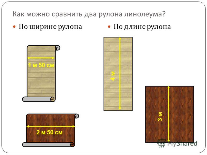 По ширине рулона По длине рулона 1 м 50 см 2 м 50 см 4 м 3 м