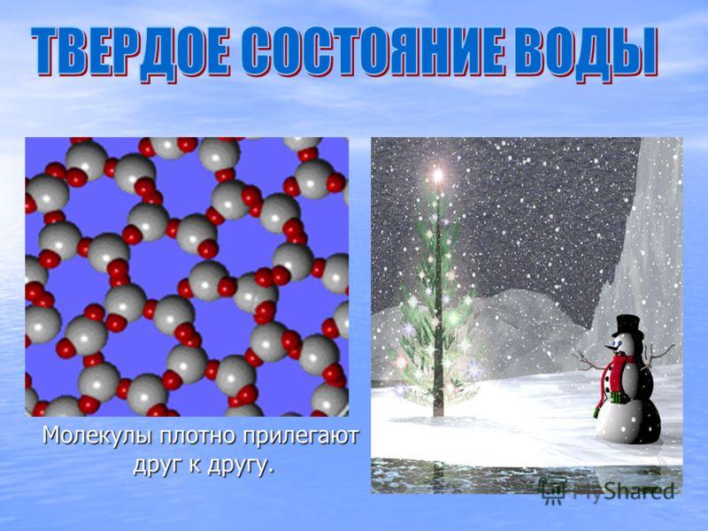 Молекулы плотно прилегают друг к другу.