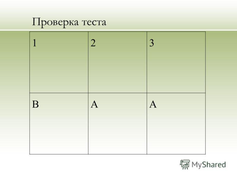 Проверка теста 123 ВАА