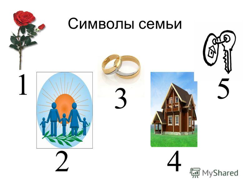 Символы семьи 1 2 3 4 5