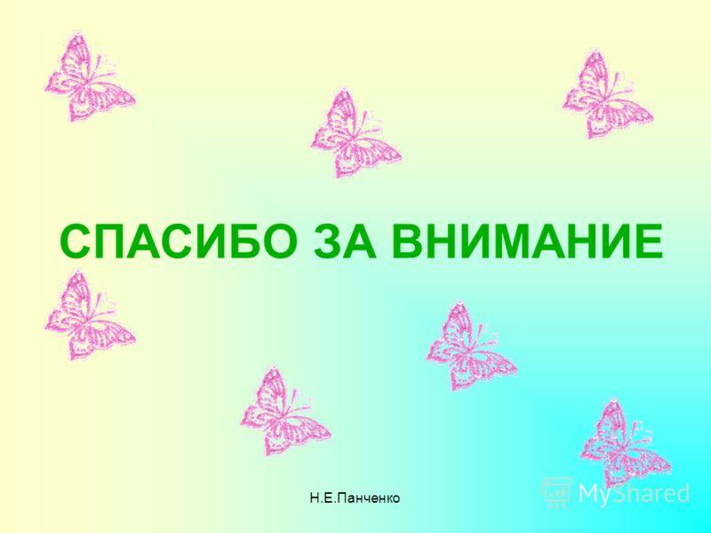 Н.Е.Панченко СПАСИБО ЗА ВНИМАНИЕ