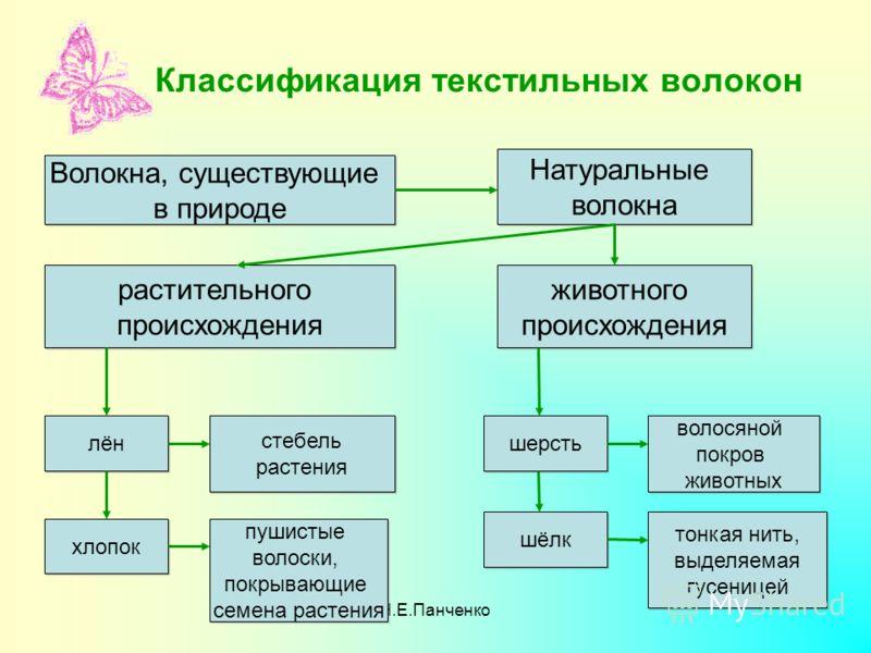 Н.Е.Панченко Классификация