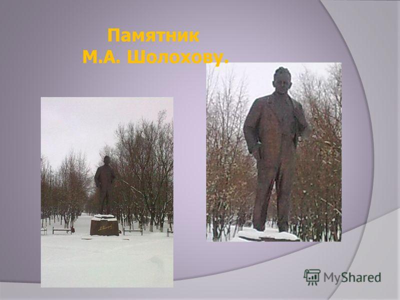 Памятник М.А. Шолохову.