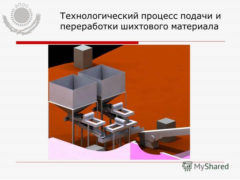 Технологический процесс подачи и переработки шихтового материала