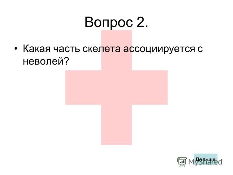 Вопрос 2. Какая часть скелета ассоциируется с неволей? Дальше