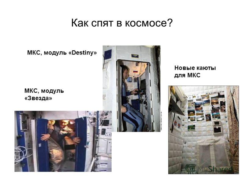 Как спят в космосе? Станция типа «Салют» Станция «Мир» Станция «Skylab»