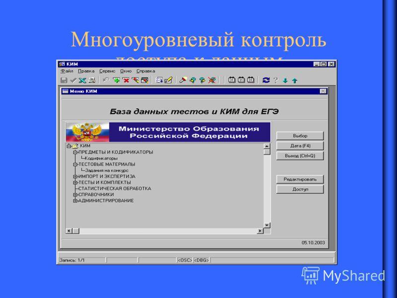 Многоуровневый контроль доступа к данным