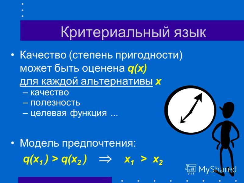 Языки описания выбора Критериальный язык Язык парных сравнений Язык функций выбора Многокритериальный выбор Коллективный выбор