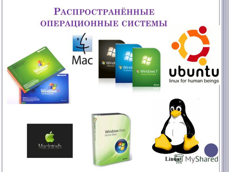 Р АСПРОСТРАНЁННЫЕ ОПЕРАЦИОННЫЕ СИСТЕМЫ Linux