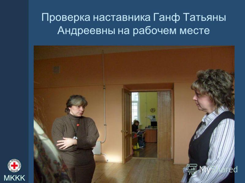 Проверка наставника Ганф Татьяны Андреевны на рабочем месте