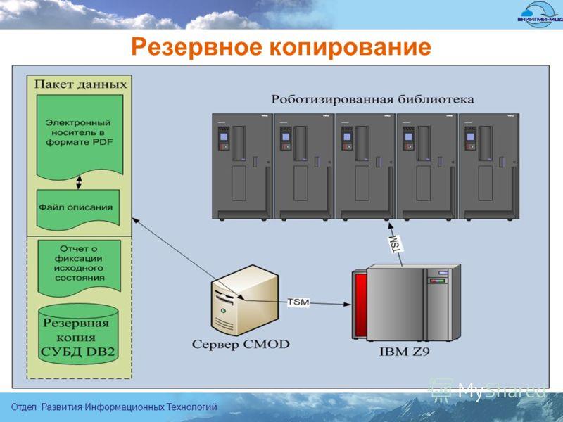 Отдел Развития Информационных Технологий Резервное копирование