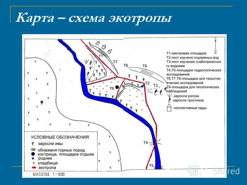Карта – схема экотропы