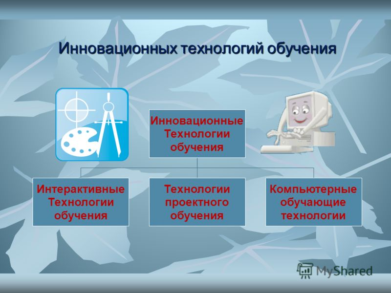 Инновационных технологий обучения Инновационные Технологии обучения Интерактивные Технологии обучения Технологии проектного обучения Компьютерные обучающие технологии