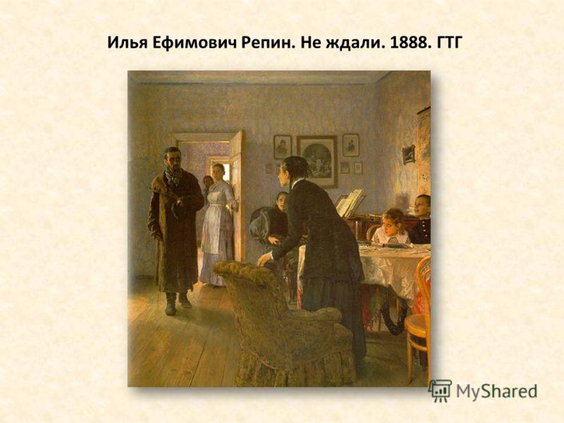 Илья Ефимович Репин. Не ждали. 1888. ГТГ