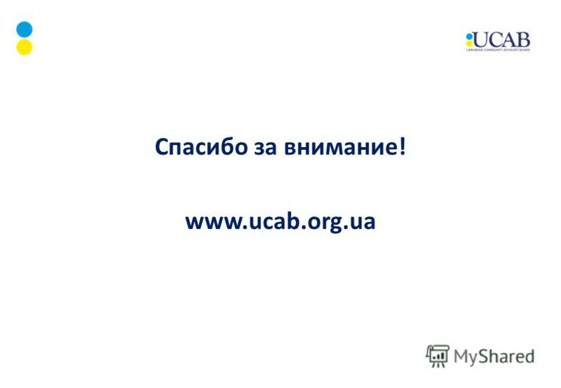 Спасибо за внимание! www.ucab.org.ua