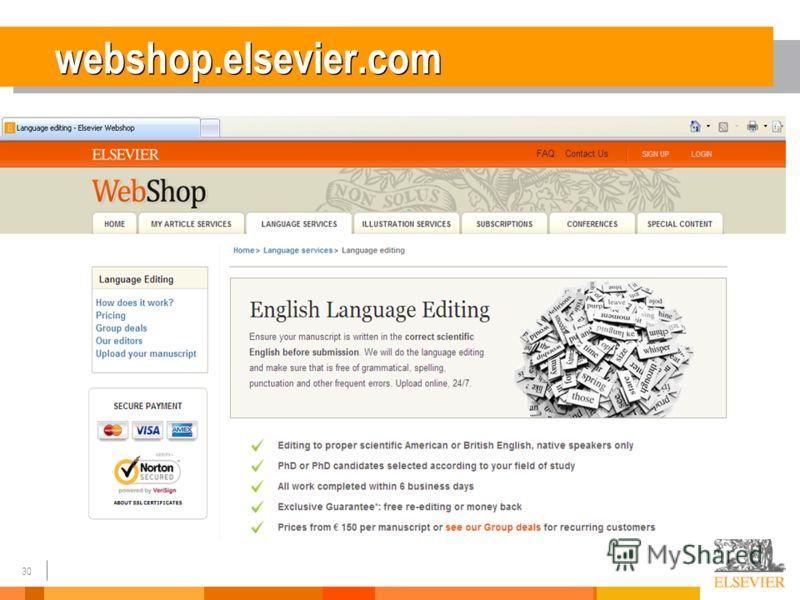 30 webshop.elsevier.com