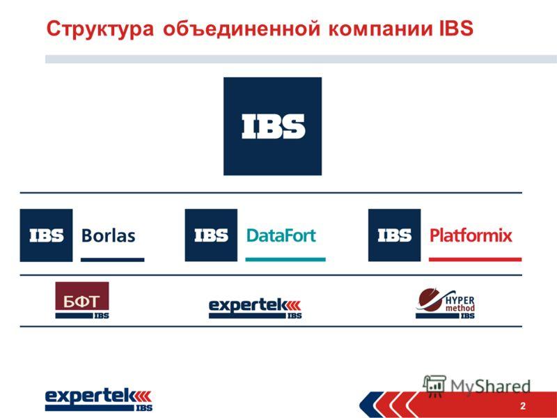 2 Структура объединенной компании IBS