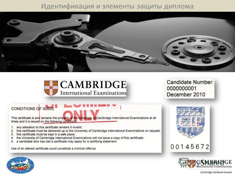 Идентификация и элементы защиты диплома