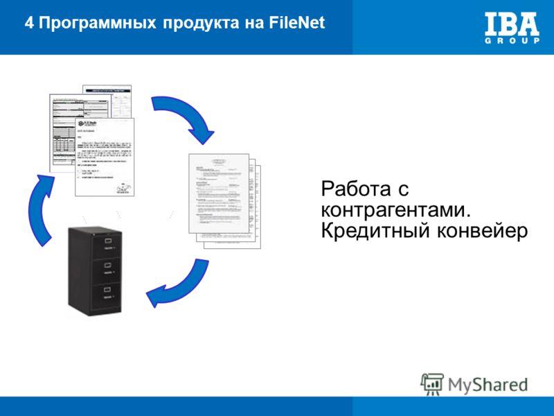4 Программных продукта на FileNet Работа с контрагентами. Кредитный конвейер