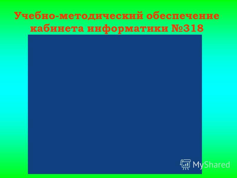 Учебно-методический обеспечение кабинета информатики 318