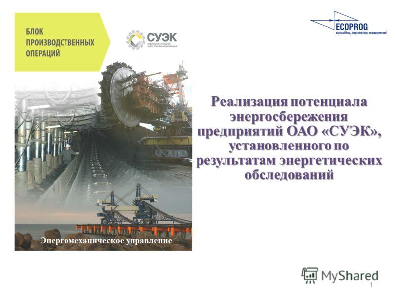 Реализация потенциала энергосбережения предприятий ОАО «СУЭК», установленного по результатам энергетических обследований 1