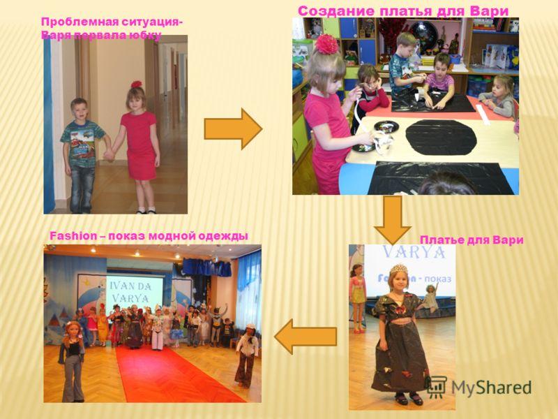 Проблемная ситуация- Варя порвала юбку Создание платья для Вари Платье для Вари Fashion – показ модной одежды
