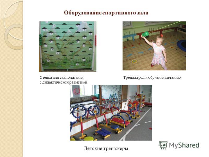 Оборудование спортивного зала Стенка для скалолазания Тренажер для обучения метанию с дидактической разметкой Детские тренажеры