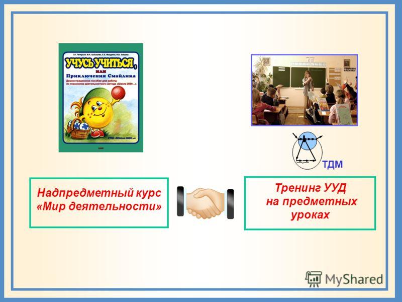 Надпредметный курс «Мир деятельности» Тренинг УУД на предметных уроках ТДМ