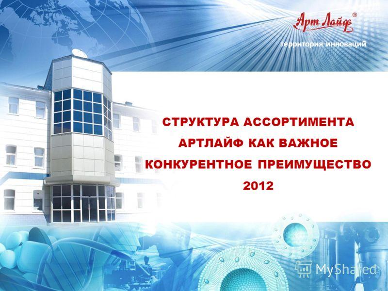 территория инноваций СТРУКТУРА АССОРТИМЕНТА АРТЛАЙФ КАК ВАЖНОЕ КОНКУРЕНТНОЕ ПРЕИМУЩЕСТВО 2012