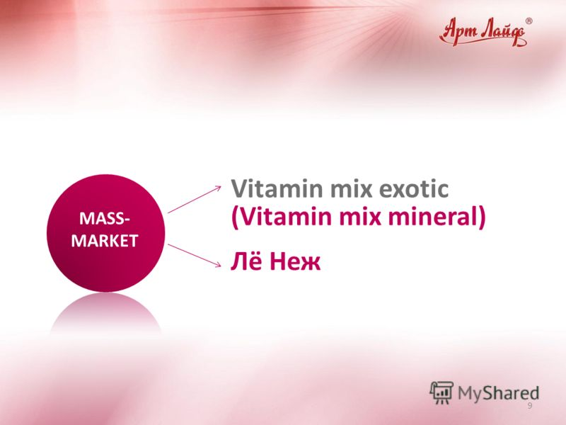 9 Vitamin mix exotic (Vitamin mix mineral) Лё Неж MASS- MARKET