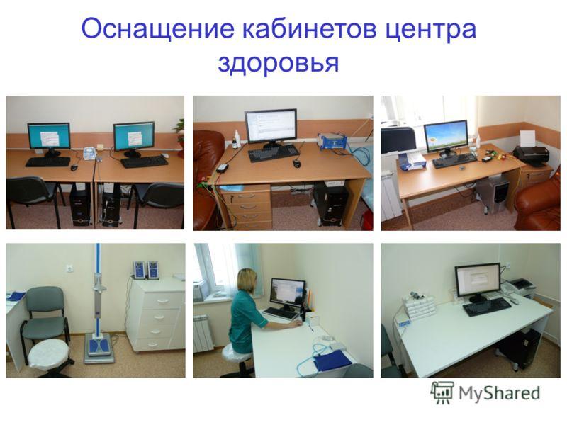 Оснащение кабинетов центра здоровья