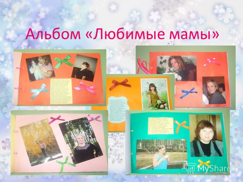 Альбом «Любимые мамы»
