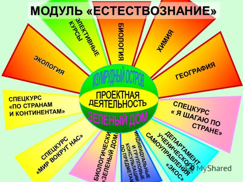 СПЕЦКУРС «ПО СТРАНАМ И КОНТИНЕНТАМ» ГЕОГРАФИЯ БИОЛОГИЯ ИНДИВИДУАЛЬНЫЕ И ГРУППОВЫЕ КОНСУЛЬТАЦИИ ПО ПРЕДМЕТАМ СПЕЦКУРС « Я ШАГАЮ ПО СТРАНЕ» ХИМИЯ ДЕПАРТАМЕНТ УЧЕНИЧЕСКОГО САМОУПРАВЛЕНИЯ «ЭКОС» БИОЛОГИЧЕСКИЙ КЛУБ «ЗЕЛЕНЫЙ ДОМ» ЭЛЕКТИВНЫЕ КУРСЫ МОДУЛЬ «Е