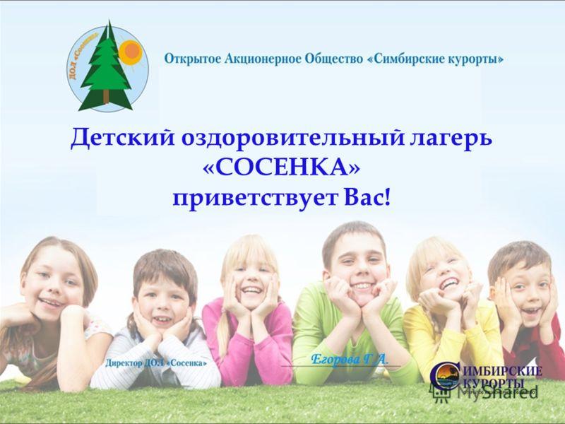 Детский оздоровительный лагерь «СОСЕНКА» приветствует Вас!