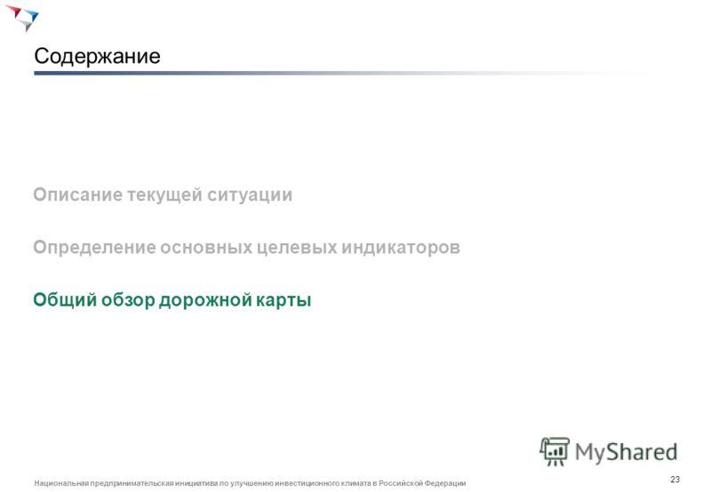 22 Национальная предпринимательская инициатива по улучшению инвестиционного климата в Российской Федерации Определение ВКР: работники, обладающие подтвержденными проф. компетенциями сверх базовых Структура компетенций: Базовые профессиональные компет