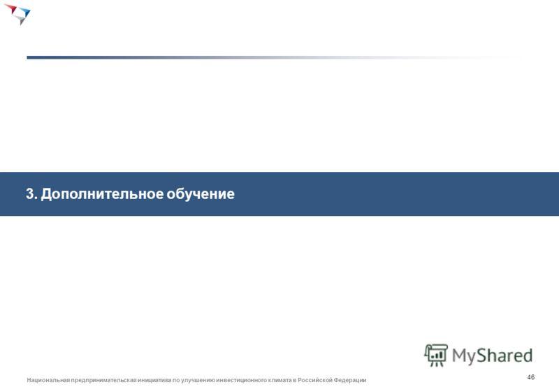 45 Национальная предпринимательская инициатива по улучшению инвестиционного климата в Российской Федерации Модель фокуса ВУЗов обычно определяется не только запросами местного бизнеса, но и целями государства ВУЗы с фокусом на прорывных отраслях экон