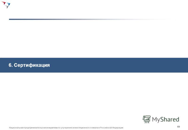 68 Национальная предпринимательская инициатива по улучшению инвестиционного климата в Российской Федерации Система НСКК может не отвечать всем интересам бизнеса при задействовании его только в создании стандартов - Сингапур Стандарты созданы в рамках