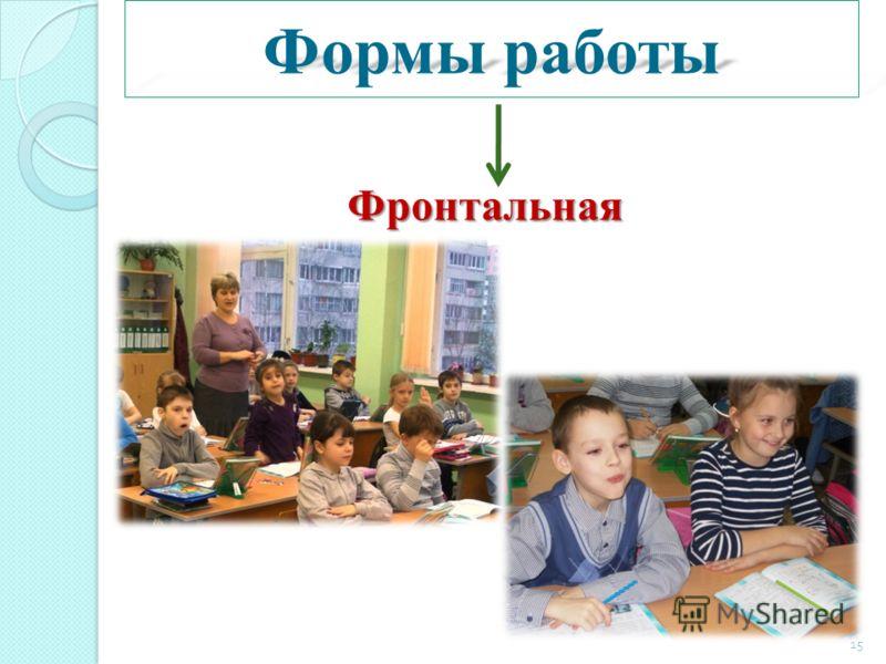 Формы работы Фронтальная 15