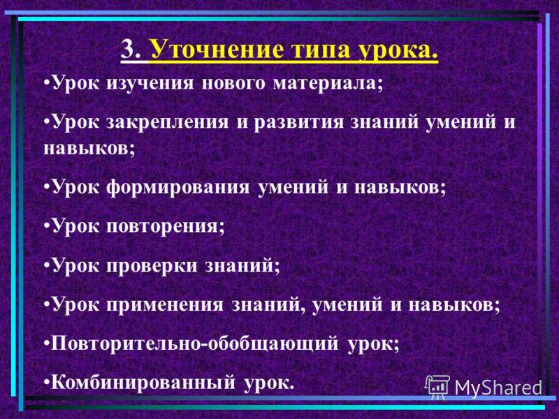 Задание группам Назовите известные вам типы уроков