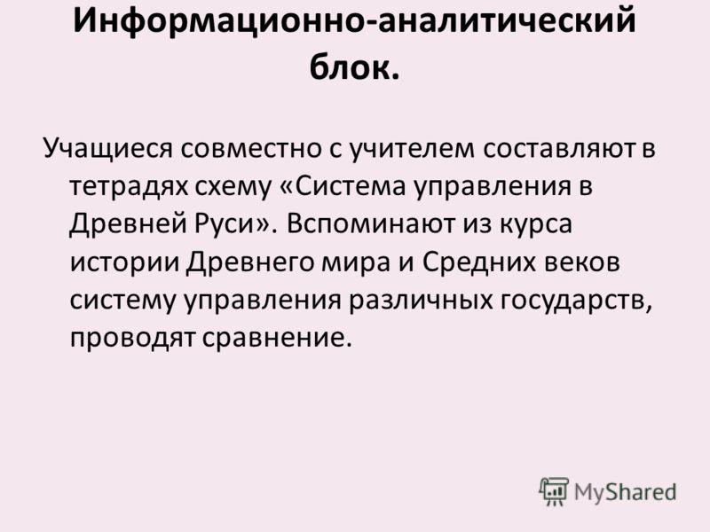 управления в Древней Руси»