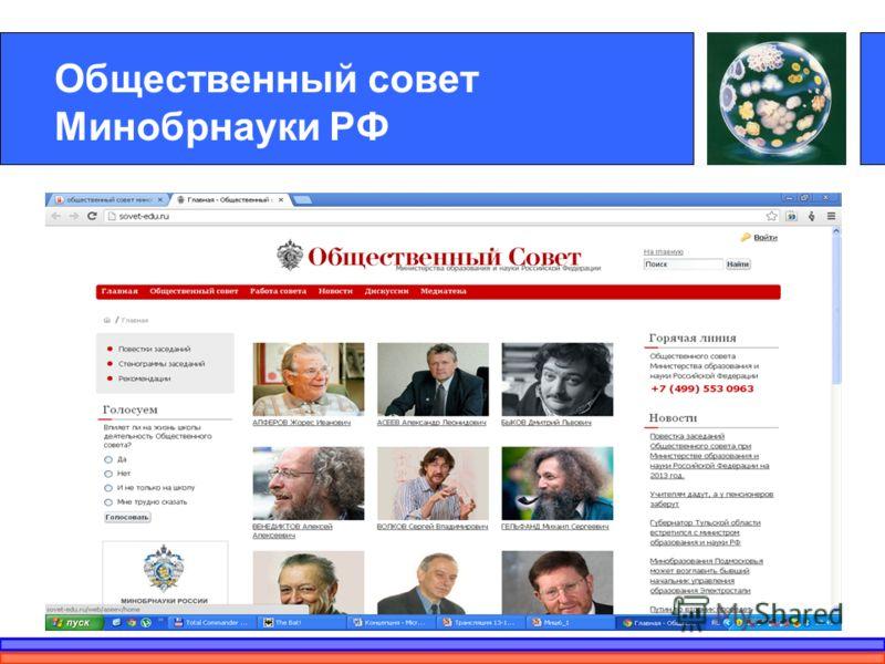 Общественный совет Минобрнауки РФ