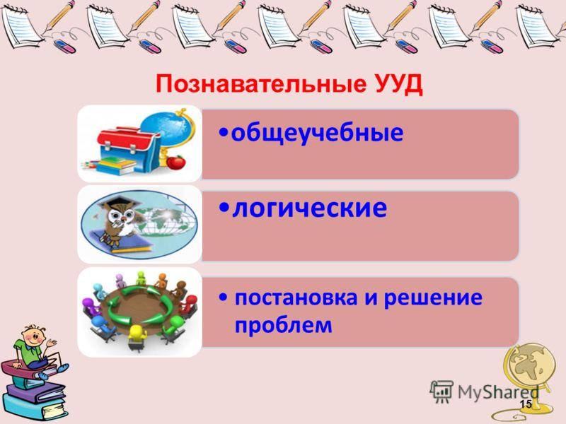 Познавательные УУД 15 общеучебные логические постановка и решение проблем