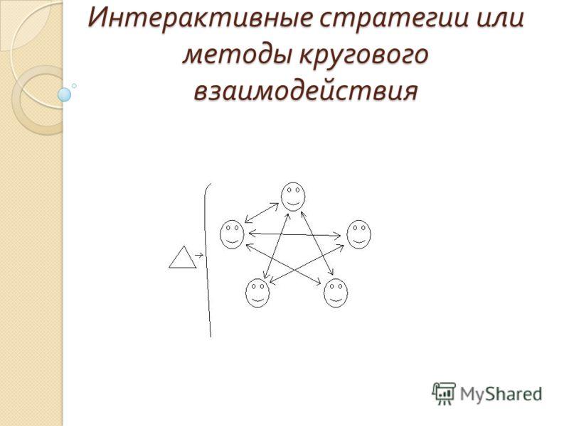Интерактивные стратегии или методы кругового взаимодействия