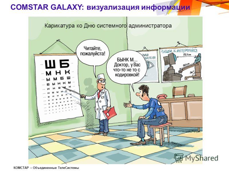 КОМСТАР – Объединенные ТелеСистемы COMSTAR GALAXY: визуализация информации Карикатура ко Дню системного администратора