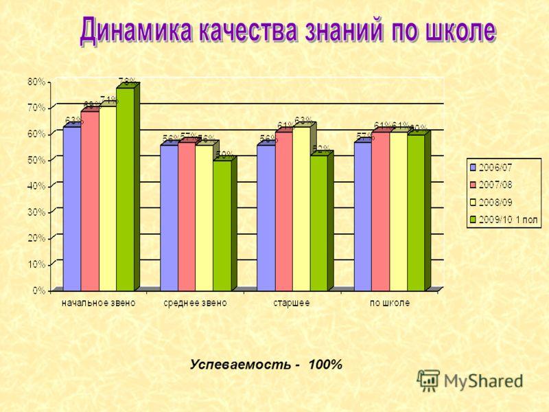 Успеваемость - 100%